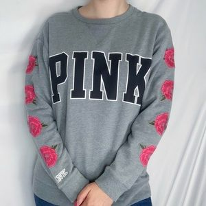 VS Pink Rose Sleeve Sweater Size Small